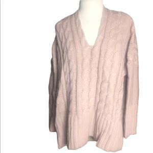 Linjia Shop Rose Cable Knit Sweater